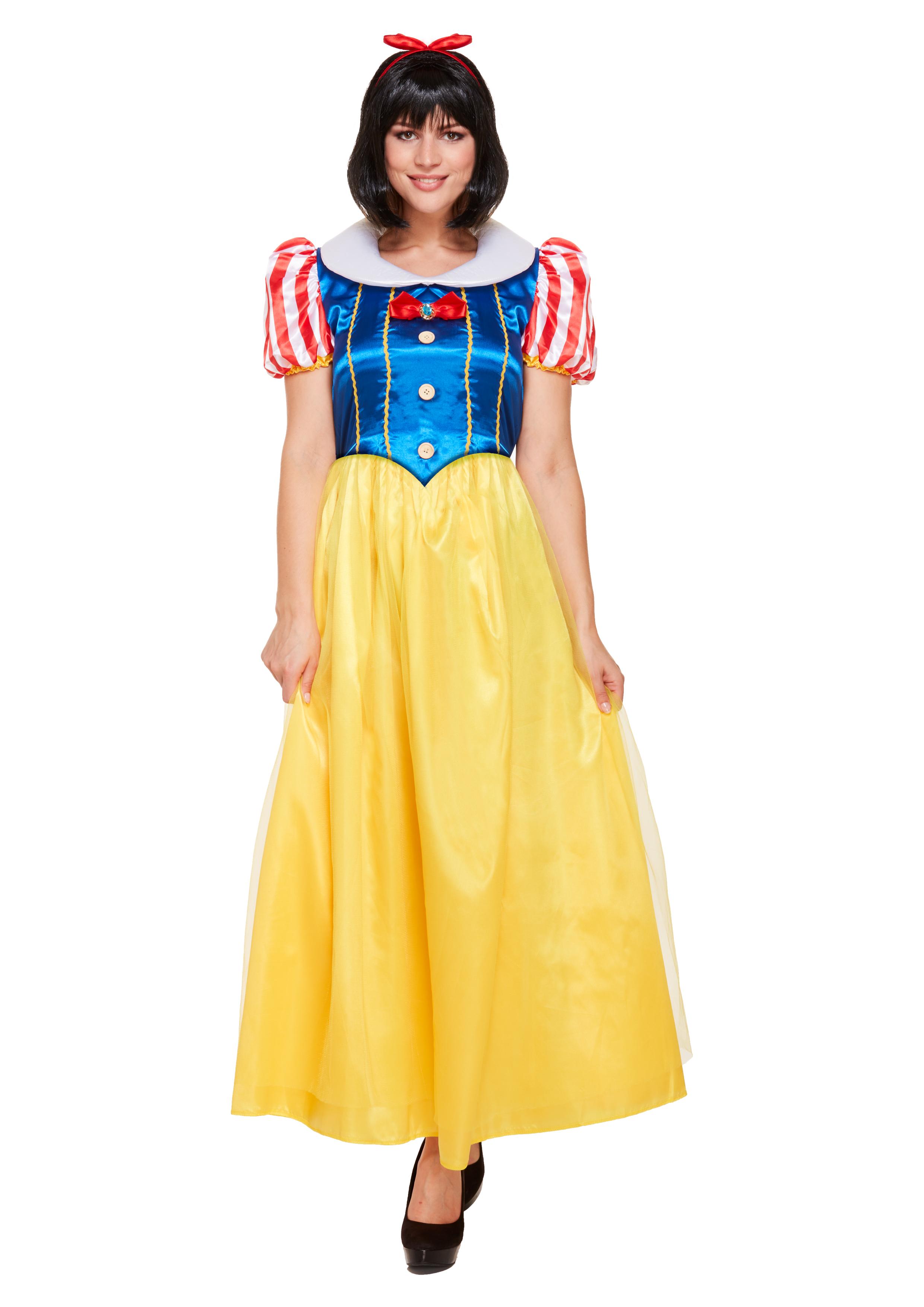 Adult Snow Princess Fancy Dress Costume