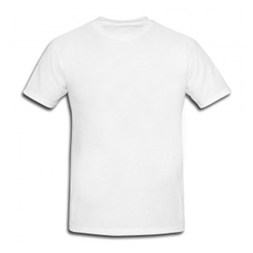 Adult White Crew Neck T-Shirt
