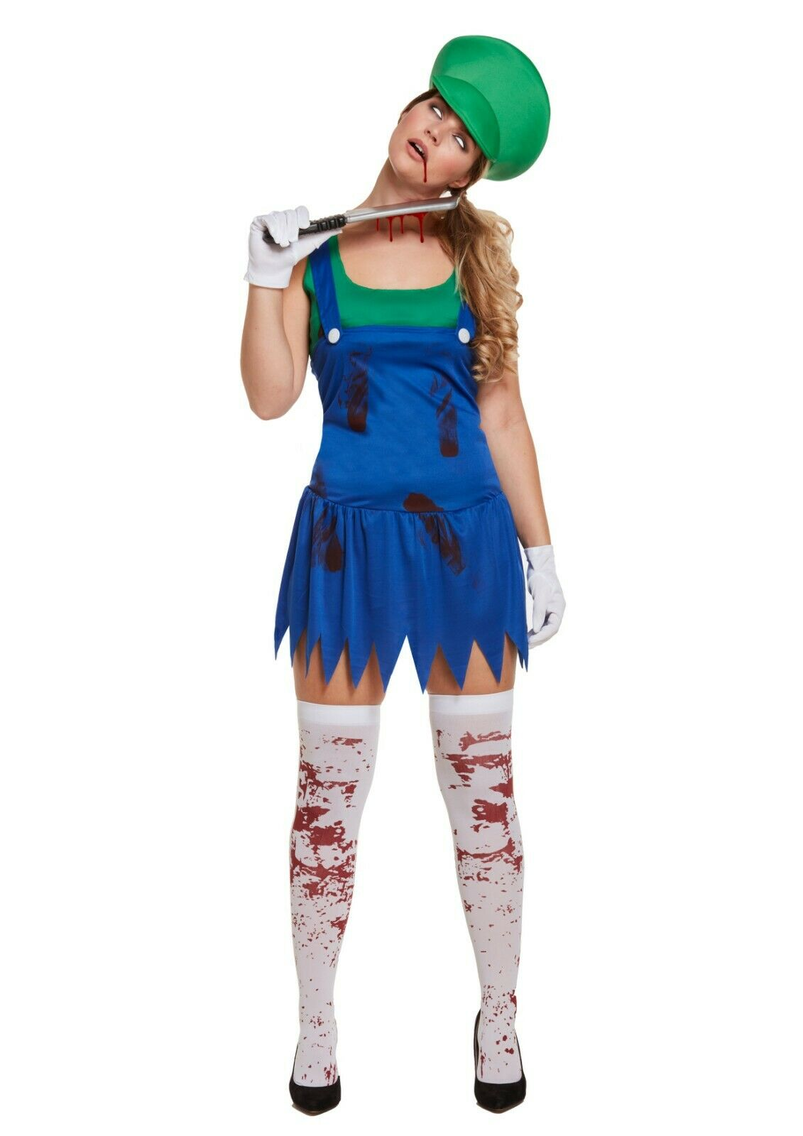 Adult Workwoman Super Zombie Green