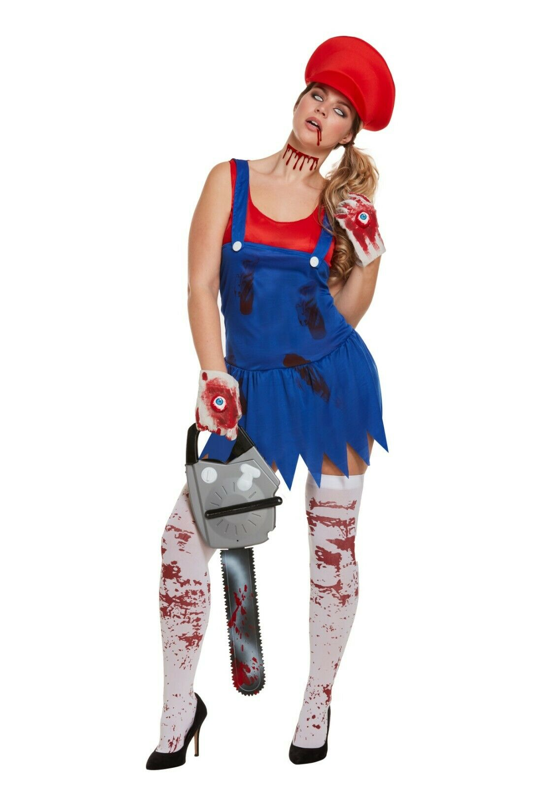 Adult Workwoman Super Zombie Red