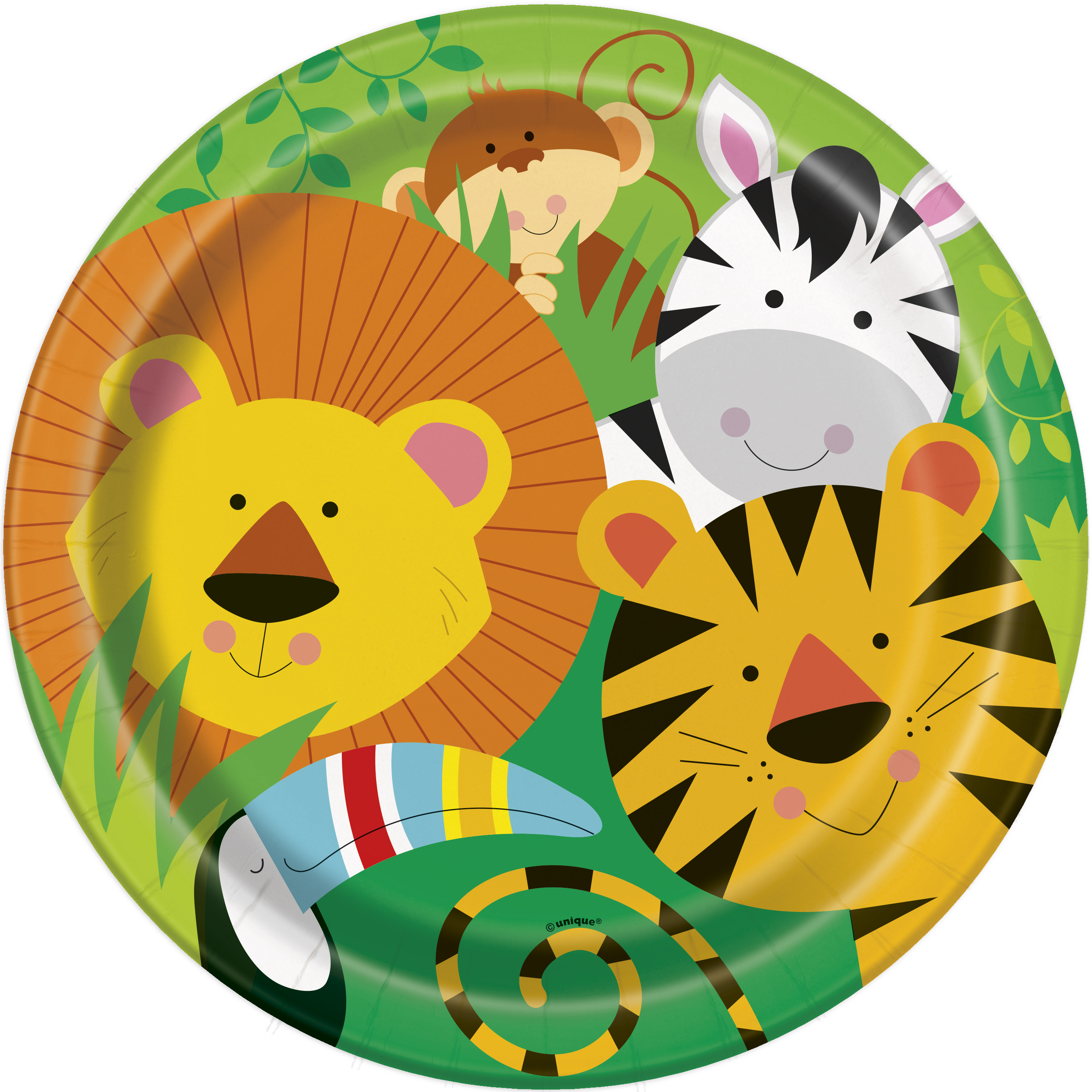 Animal Jungle Plates (7 Inches) Pack of 8