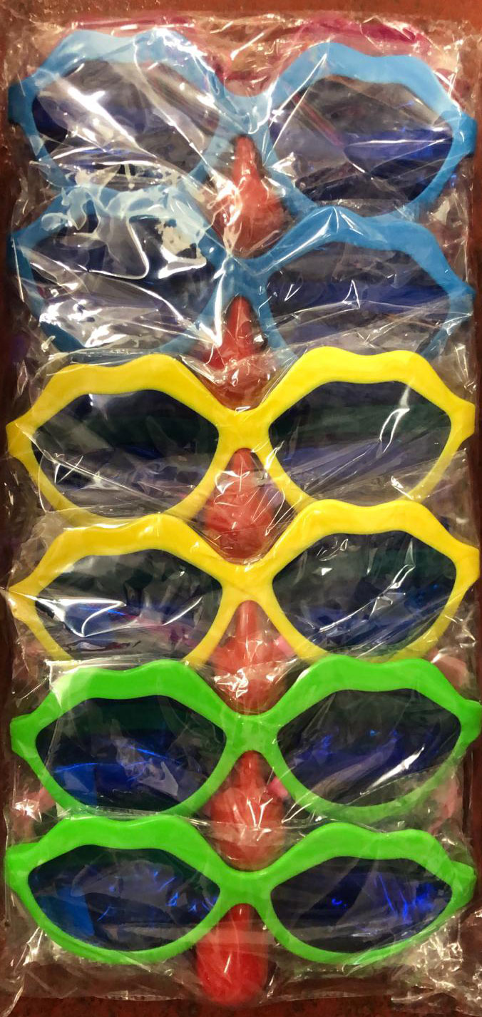 Assorted Colours Big Party Glasses