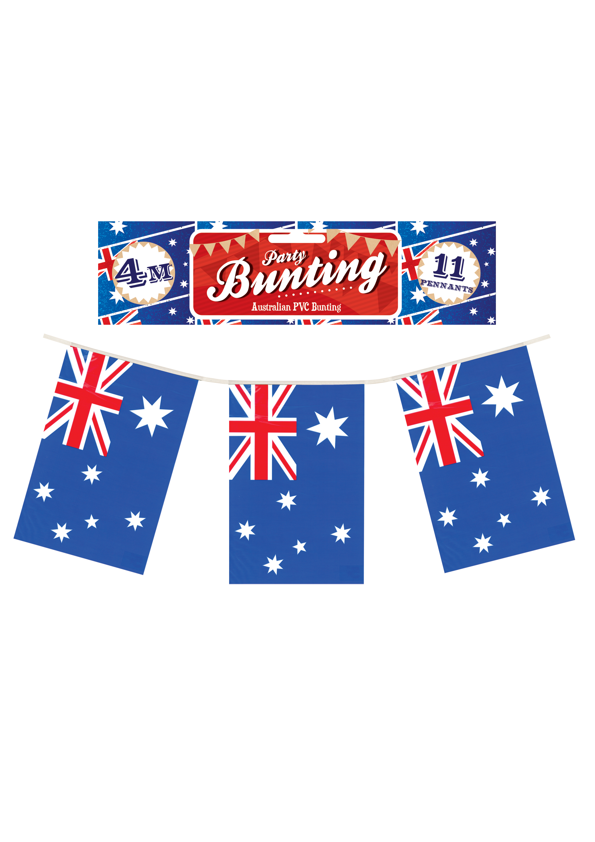 Australian Flag Bunting 4m (11 Flags)