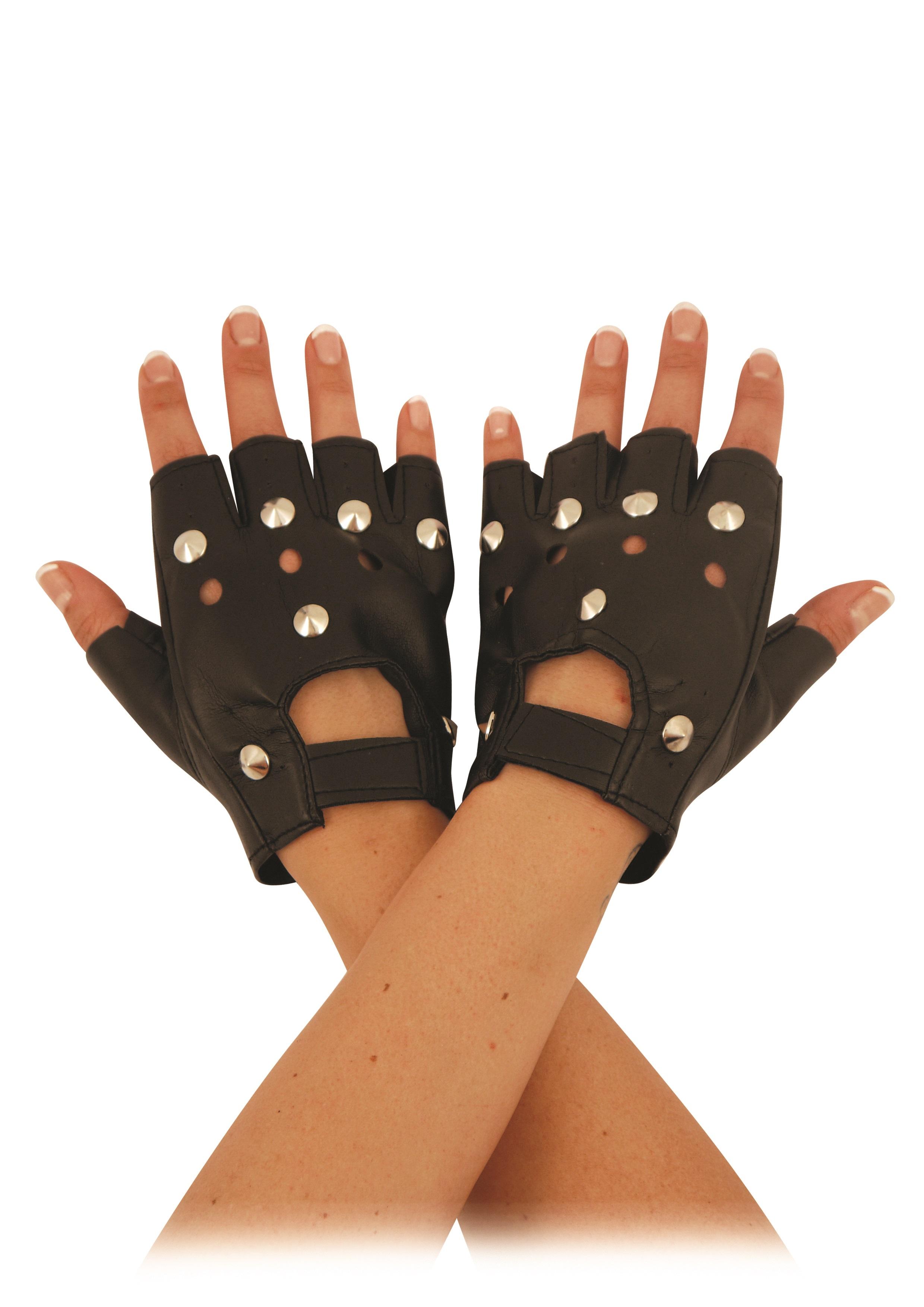Black Biker Gloves