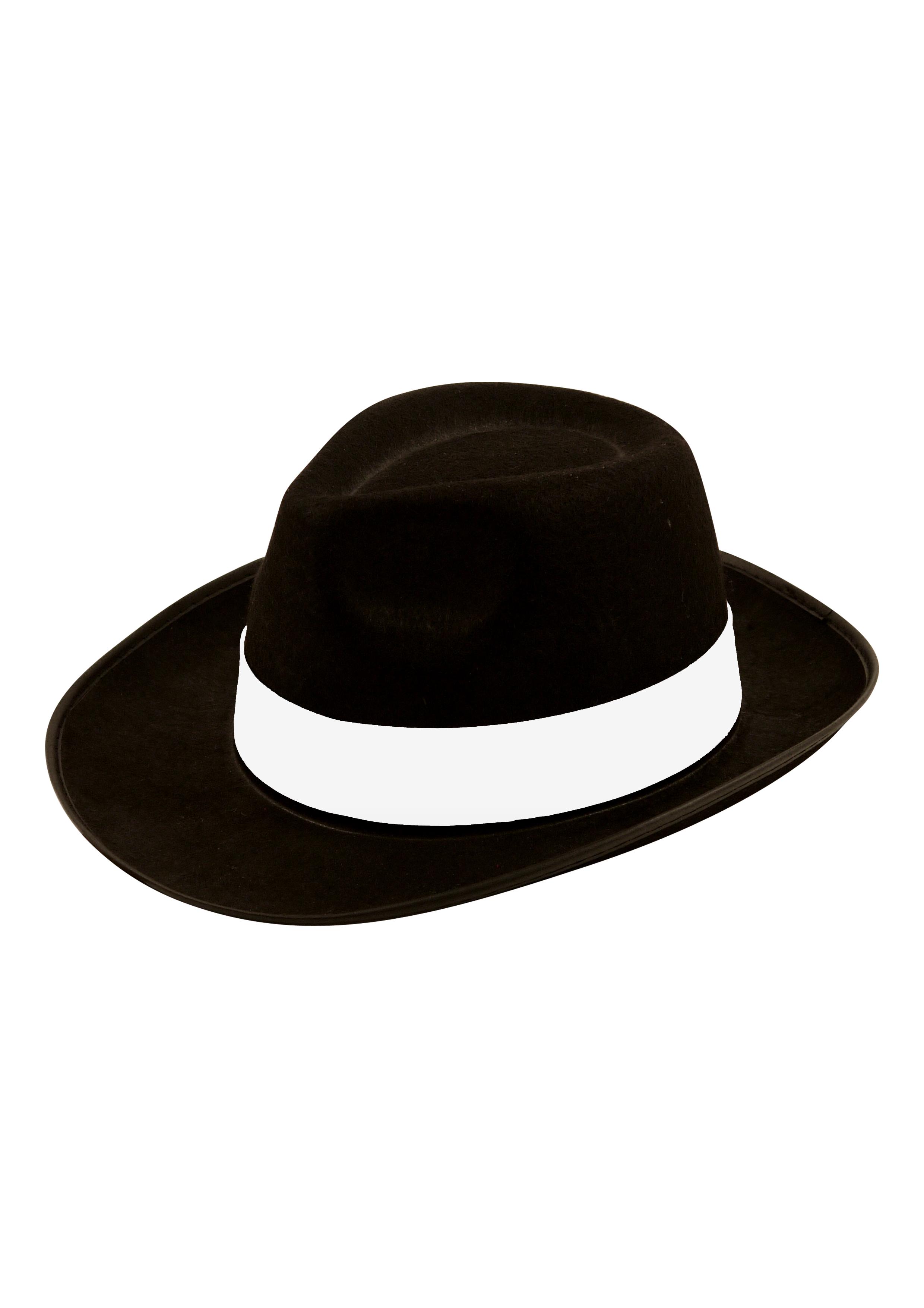Adult Black Gangster Hat