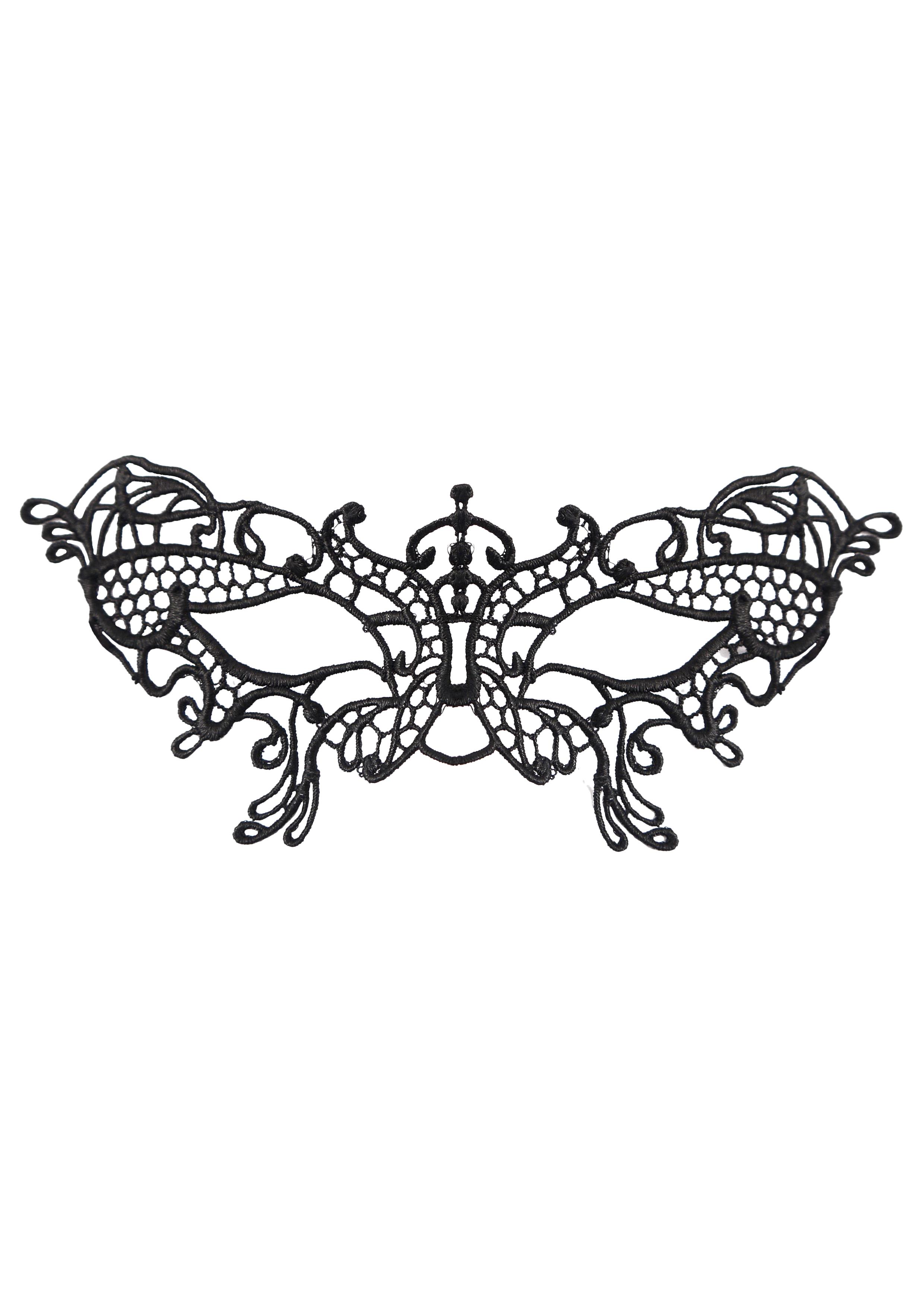 Black Lace Butterfly Eye Mask