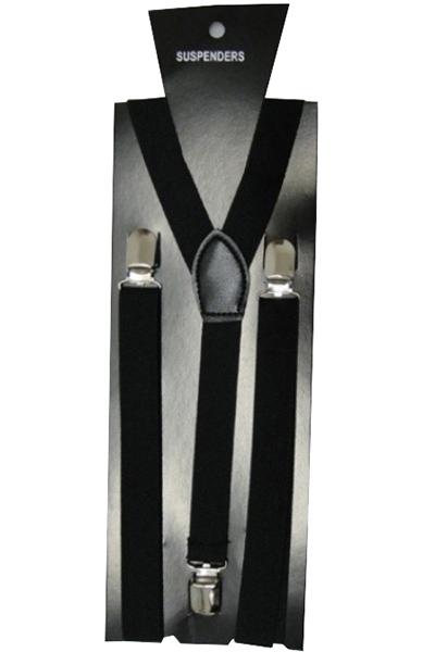 Black Plain Braces (2.5 cm)