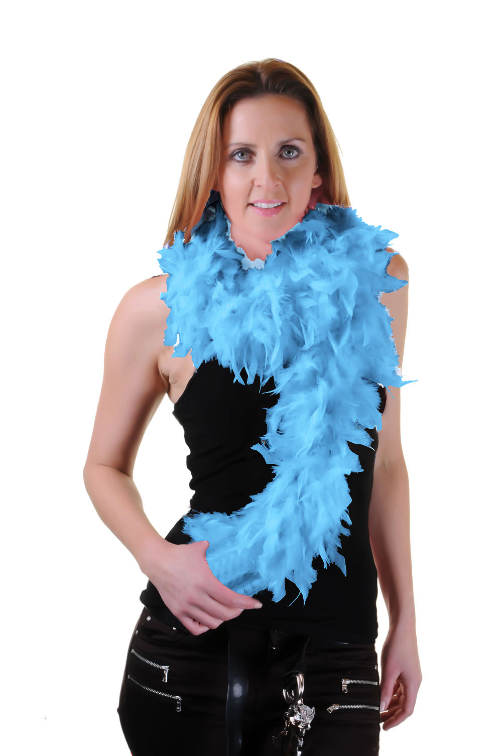 Sky Blue Feather Boa High Quality