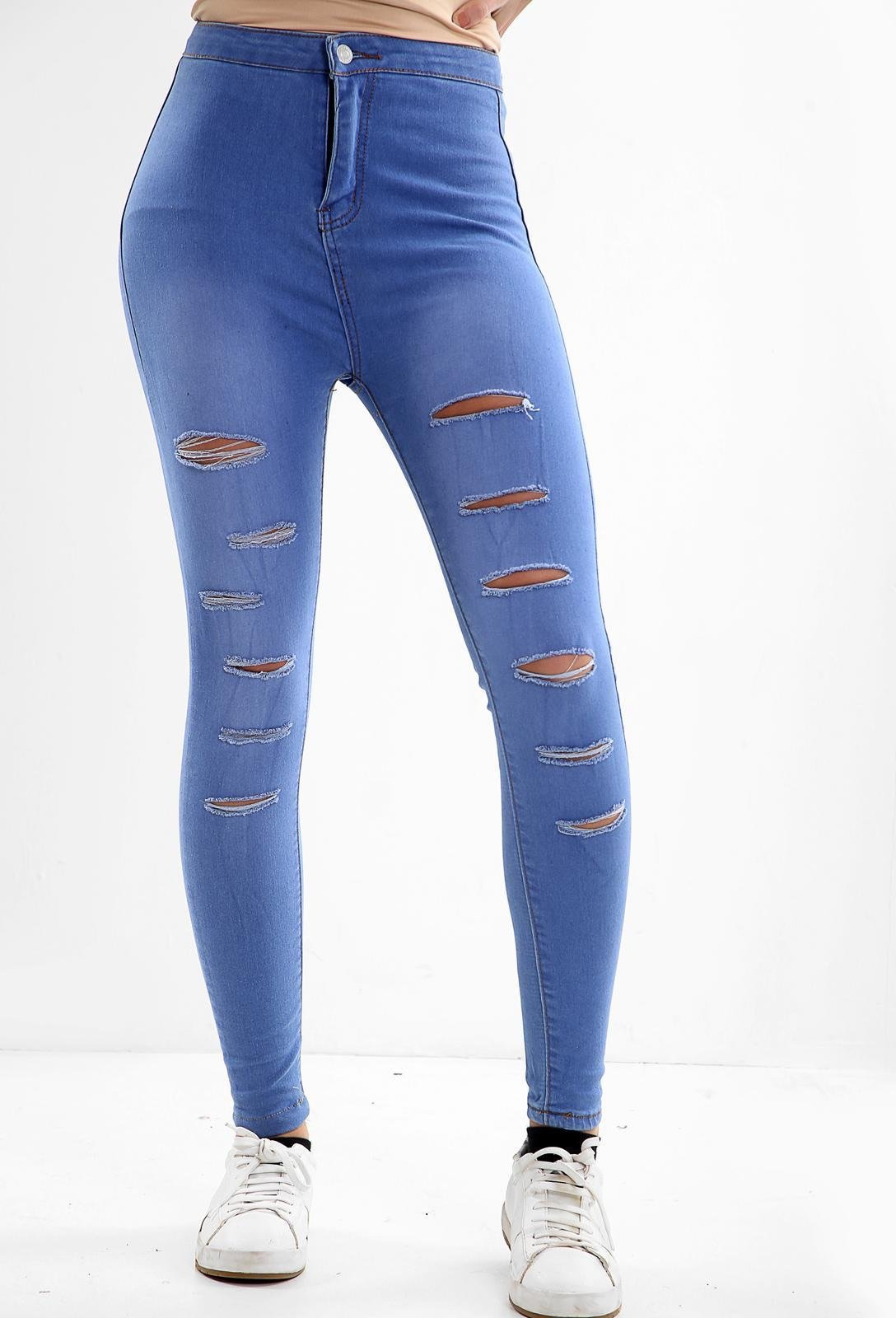 Blue Ladies High waisted jeans
