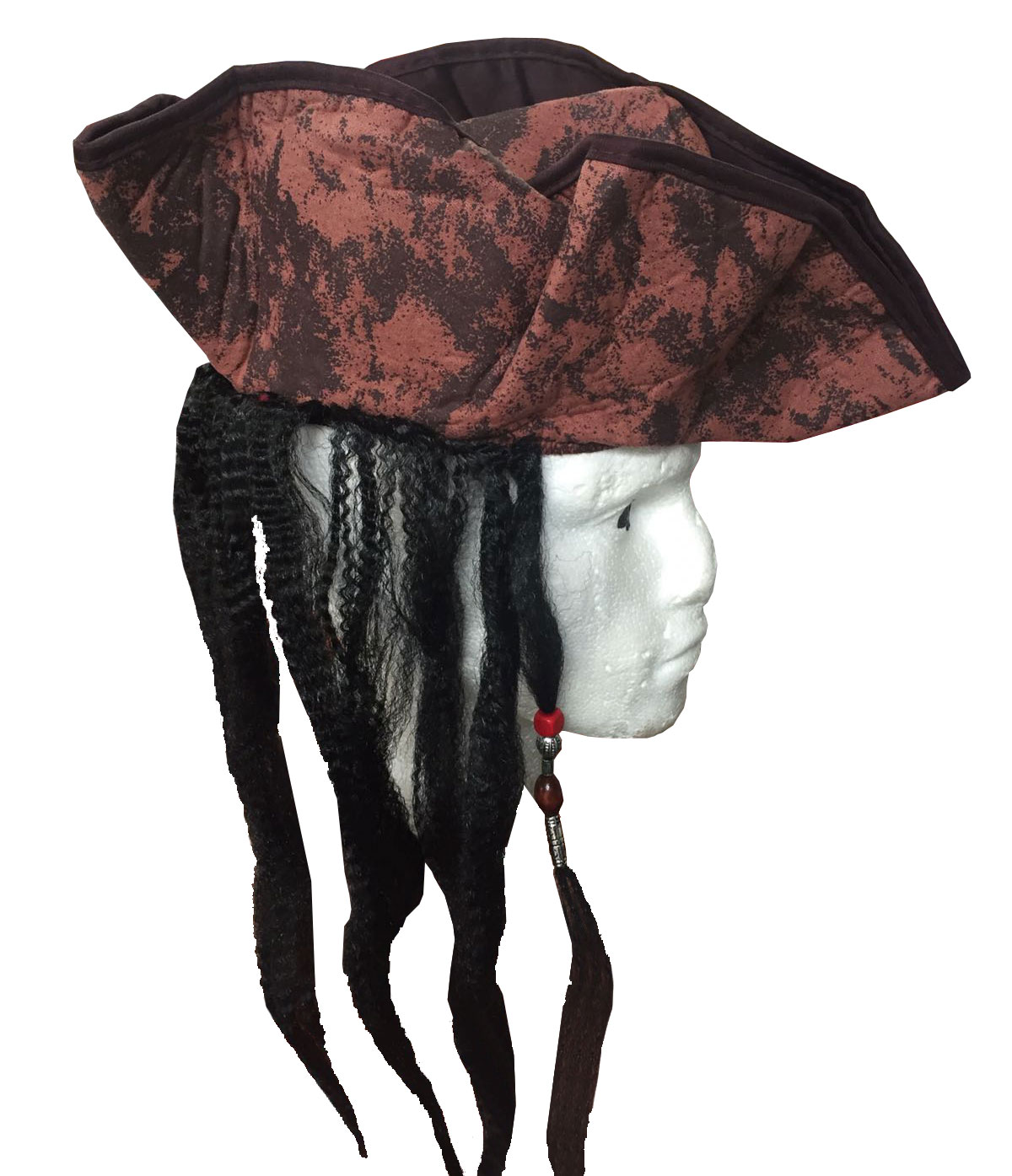 Brown Pirate Deluxe Hat with Hairs