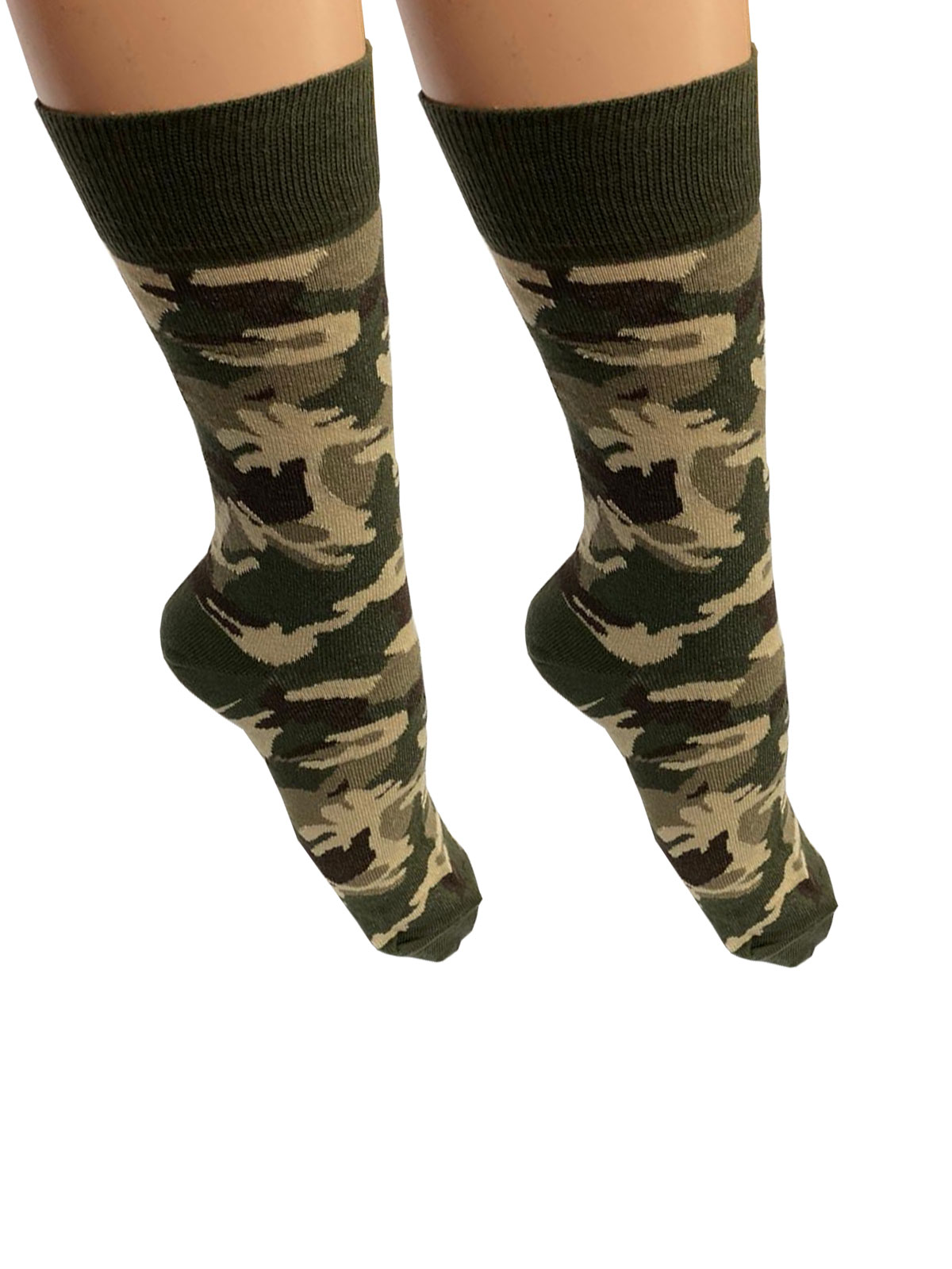 Men Camouflage Print Ankle High Socks(12 Pairs)