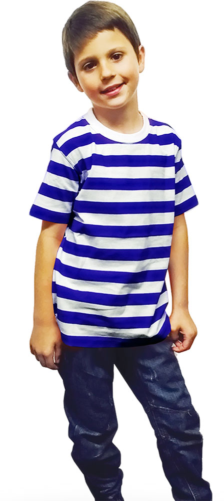 Children Blue & White Stripe T-Shirt