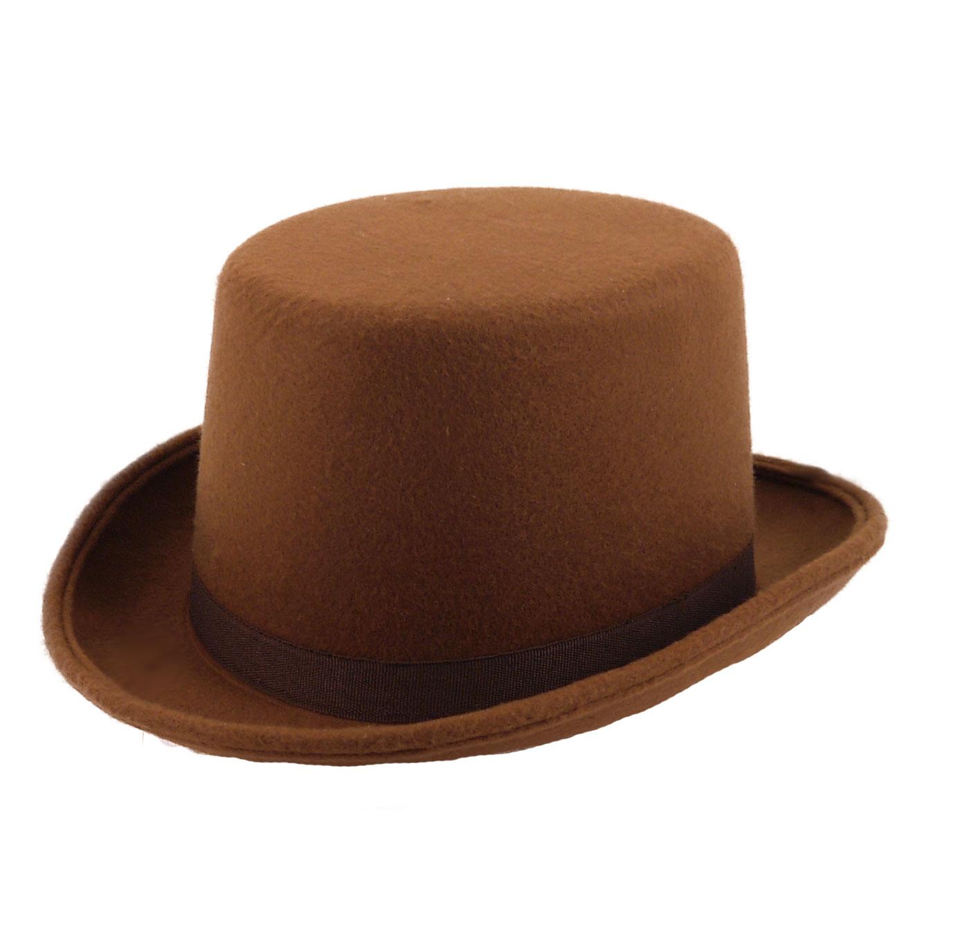 Children Felt Brown Topper Hat