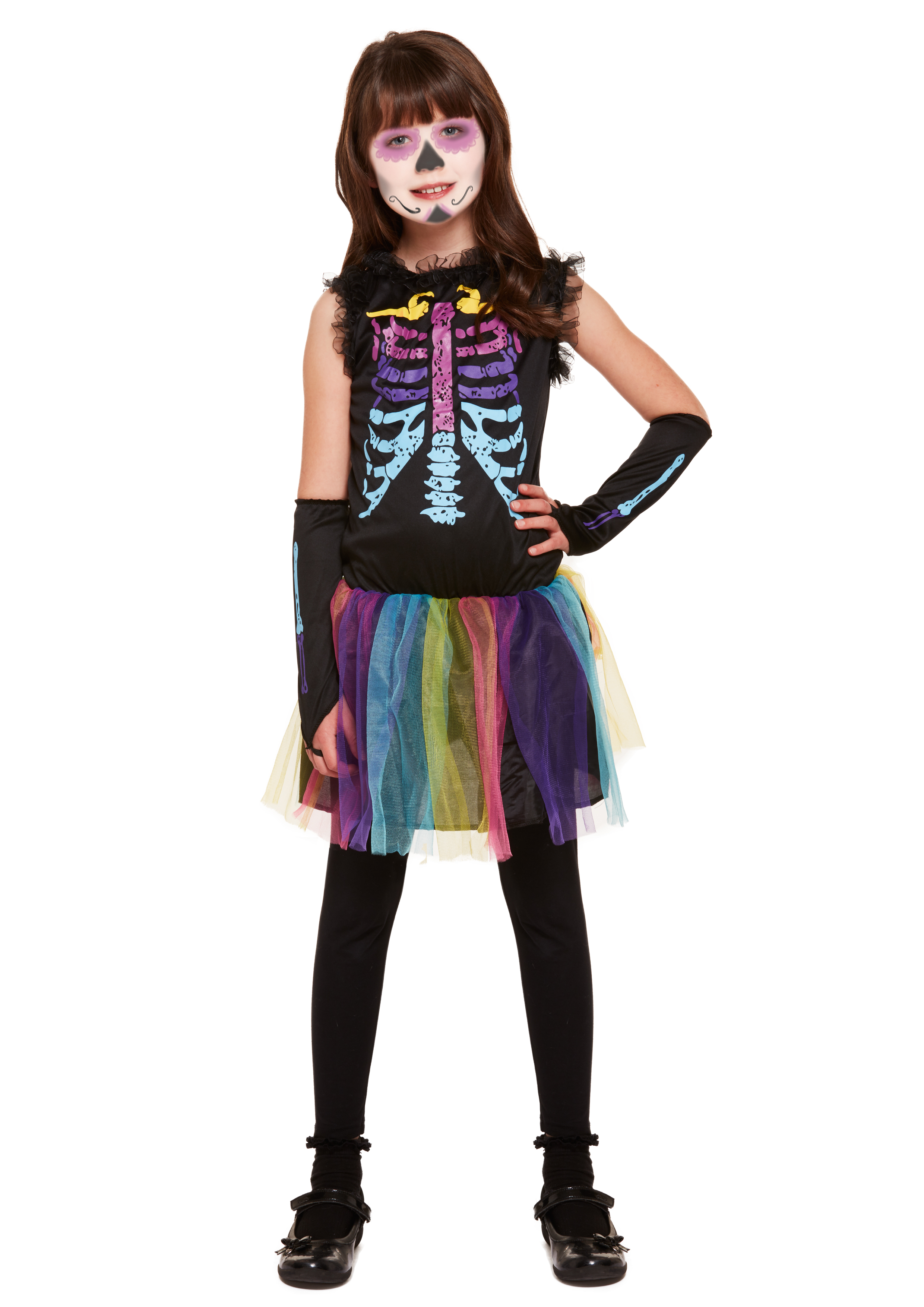 Children Multicoloured Skeleton Costume