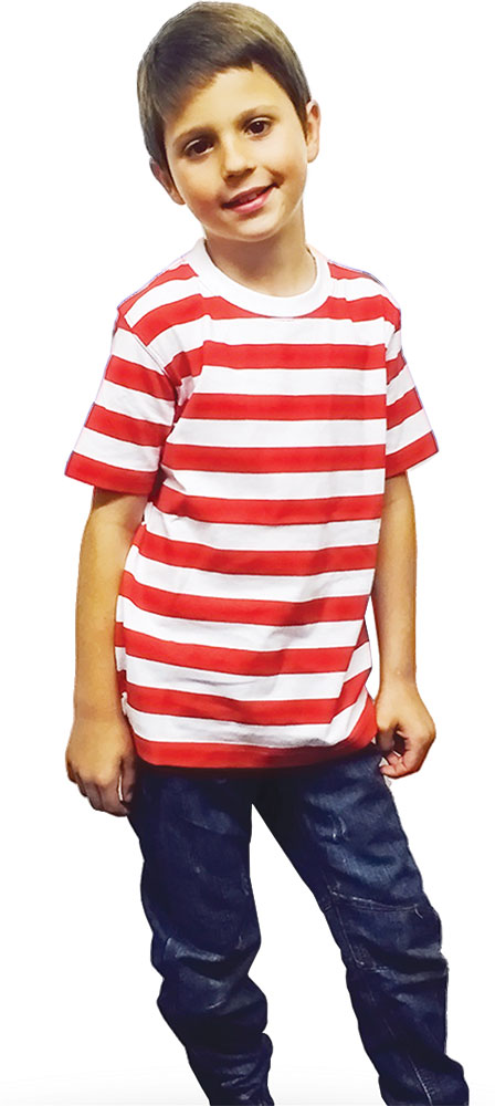 Children Red & White Stripe T-Shirt