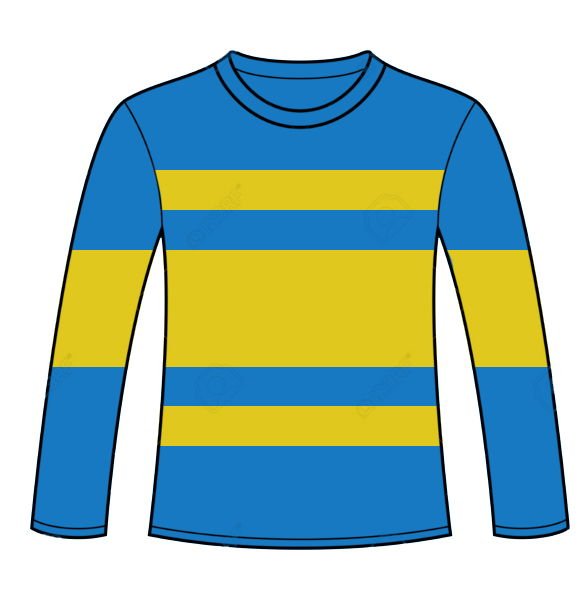 Children Striped Top Blue-yellow
