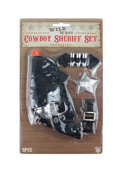 Cowboy Set 5 Pc W/18cm Gun