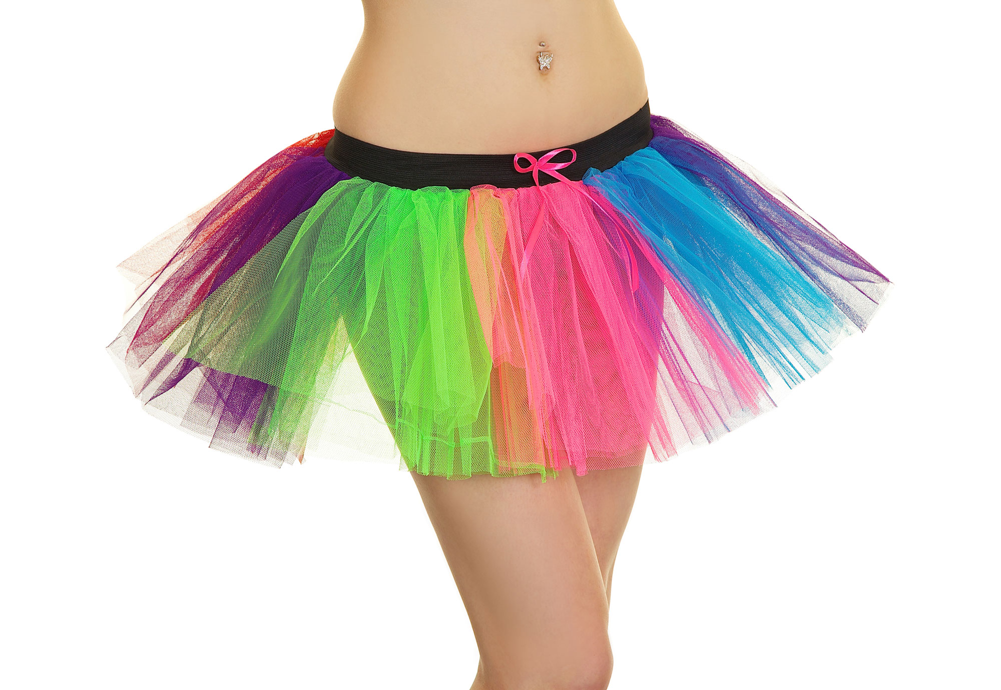 Crazy Chick 3 Layer Clown Rainbow  TuTu Skirt