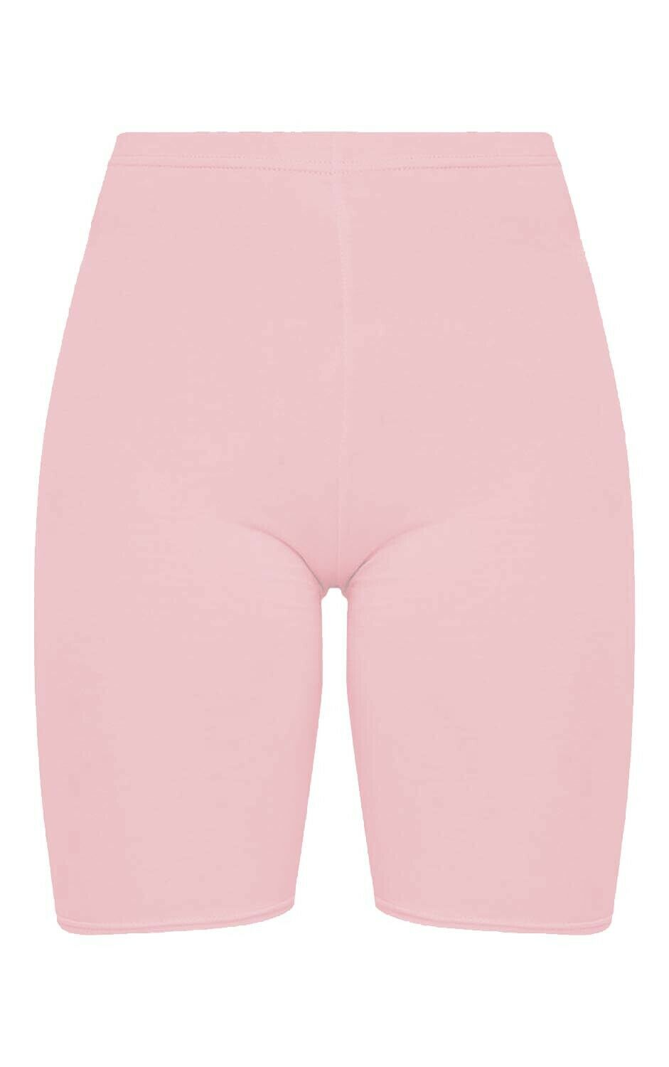 Crazy Chick Women Baby Pink Microfibre Cycling Shorts