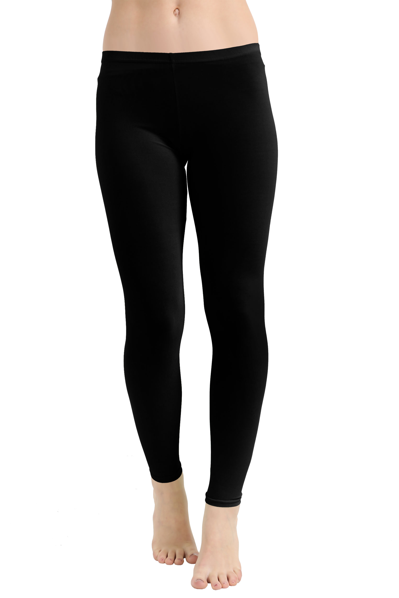 Crazy Chick Microfiber Black Leggings