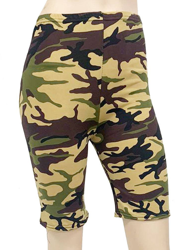 Crazy Chick Camouflage Cycling Shorts