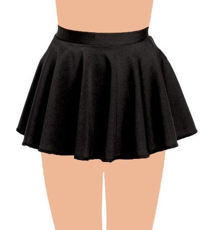 Crazy Chick Girls Black Circular Skirt