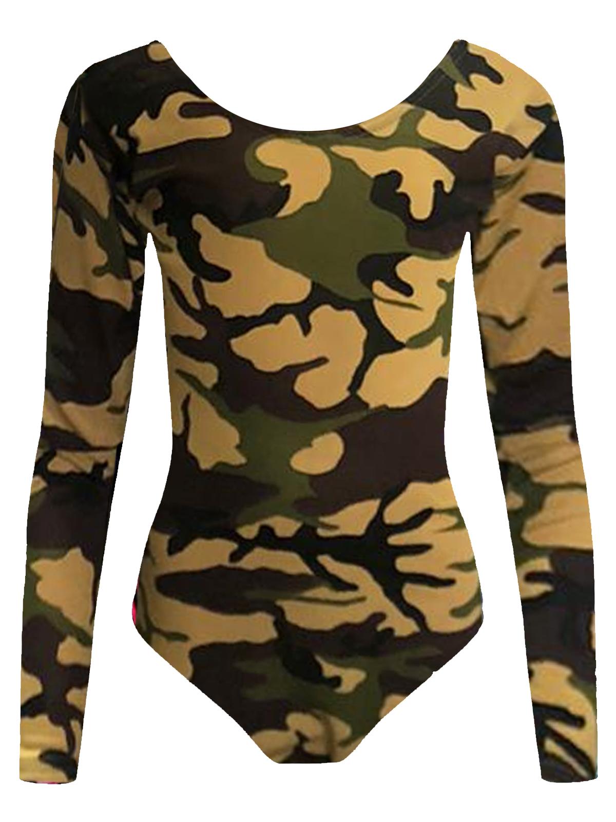 Crazy Chick Girls Camouflage Leotard