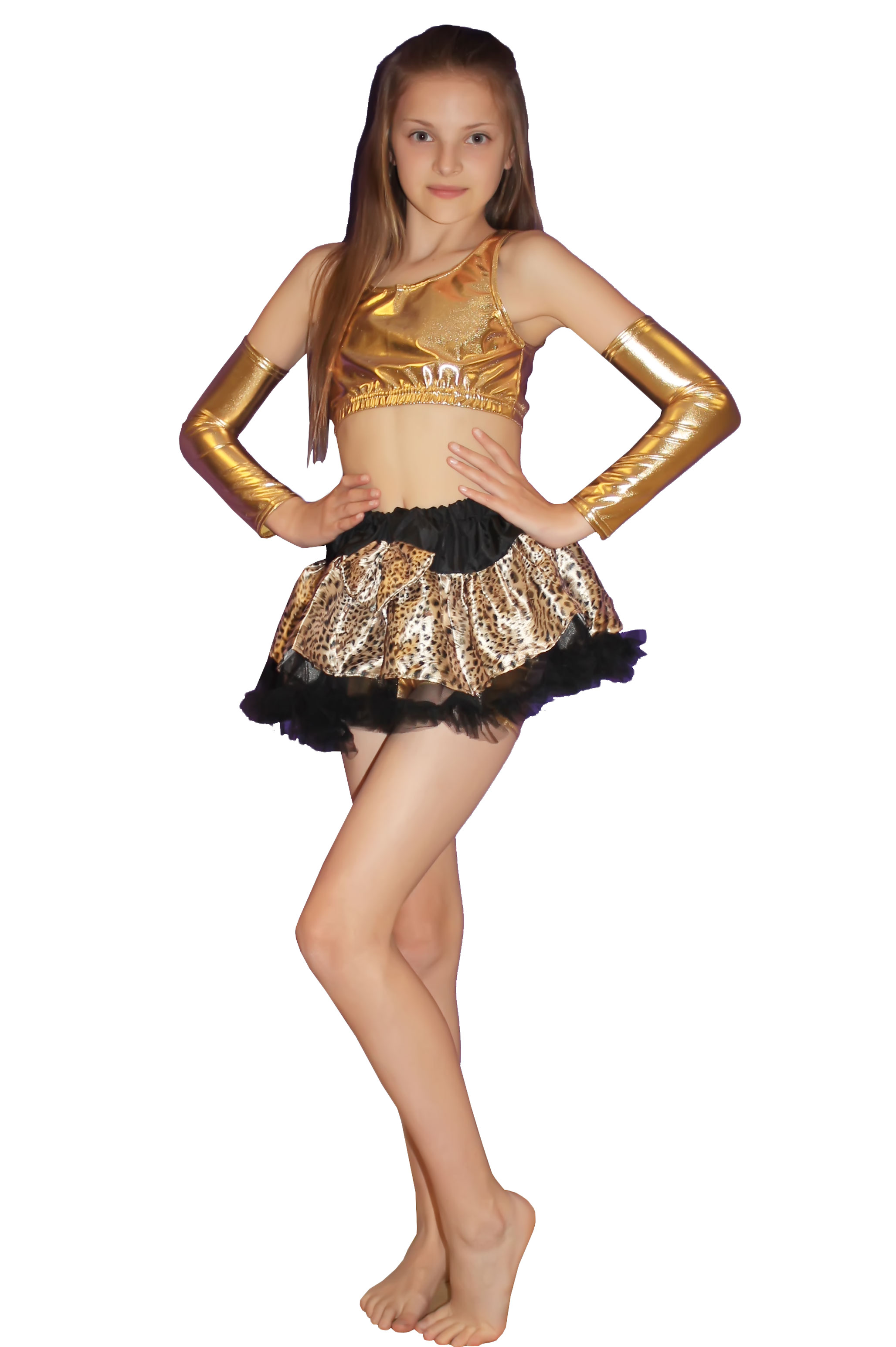 Crazy Chick Girls Leopard Printed TuTu Skirt