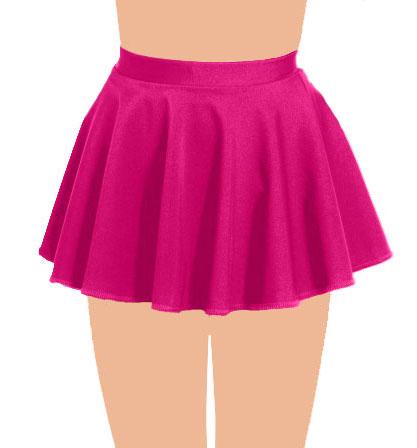 Crazy Chick Girls Pink Circular Skirt