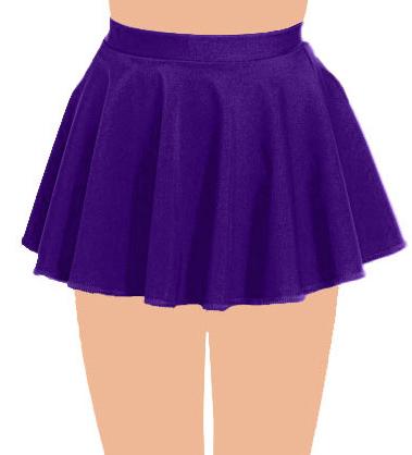 Crazy Chick Girls Purple Circular Skirt