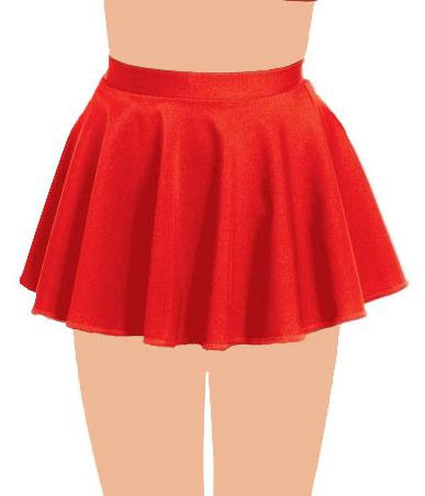 Crazy Chick Girls Red Circular Skirt