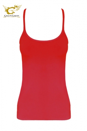 Microfiber Crazy Chick Girls Red Vest Top