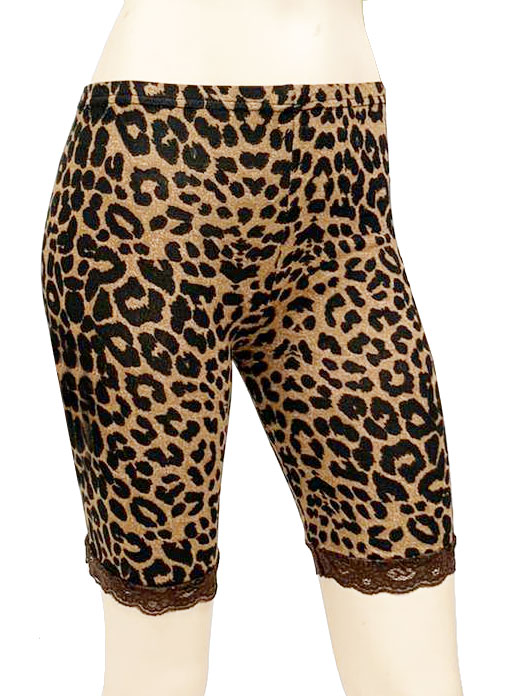Crazy Chick Leopard Print Lace Cycling Shorts