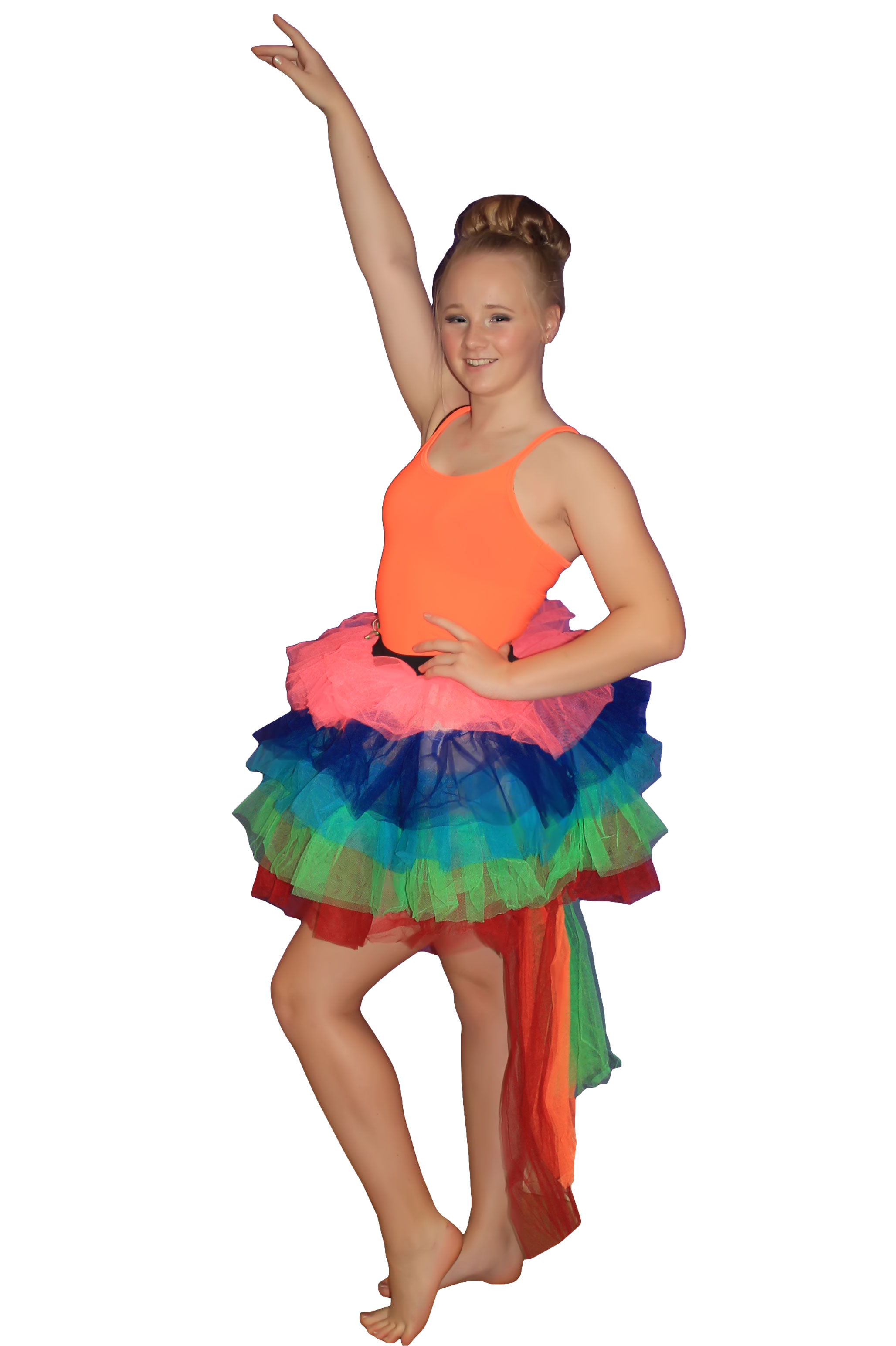 Crazy Chick Long Tail Rainbow TuTu Skirt
