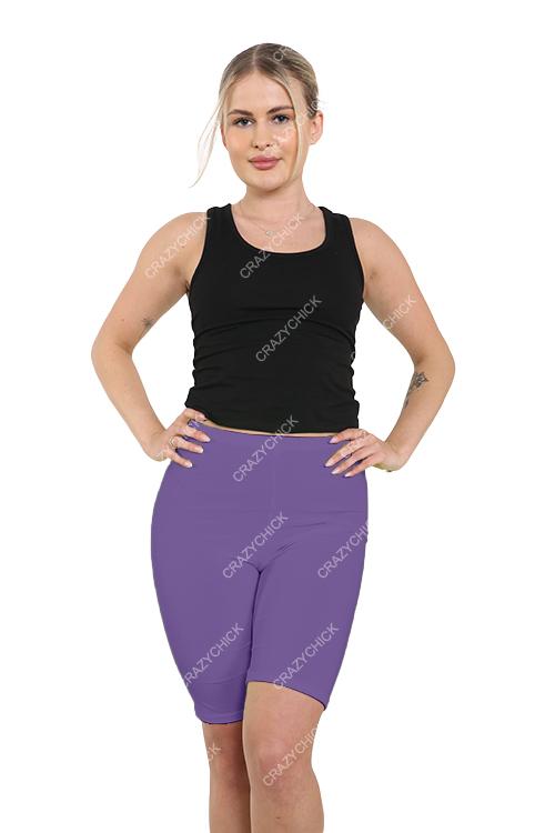 Crazy Chick Women Purple Microfibre Cycling Shorts