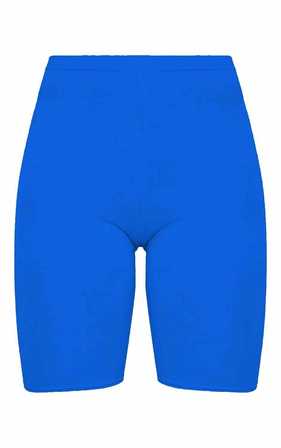 Crazy Chick Women Royal Blue Microfibre Cycling Shorts
