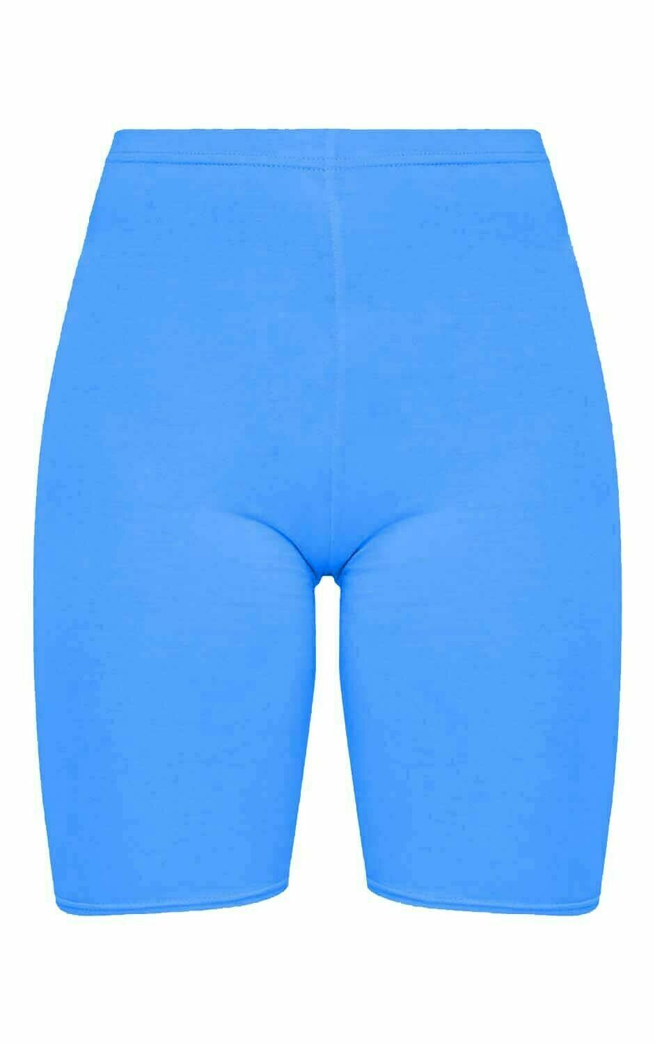 Crazy Chick Women Turquoise Microfibre Cycling Shorts