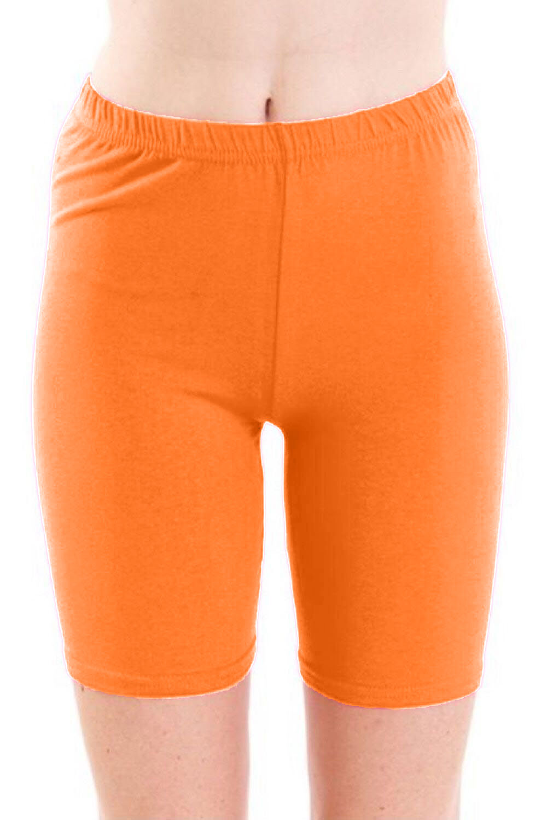Crazy Chick Women Orange Microfibre Cycling Shorts