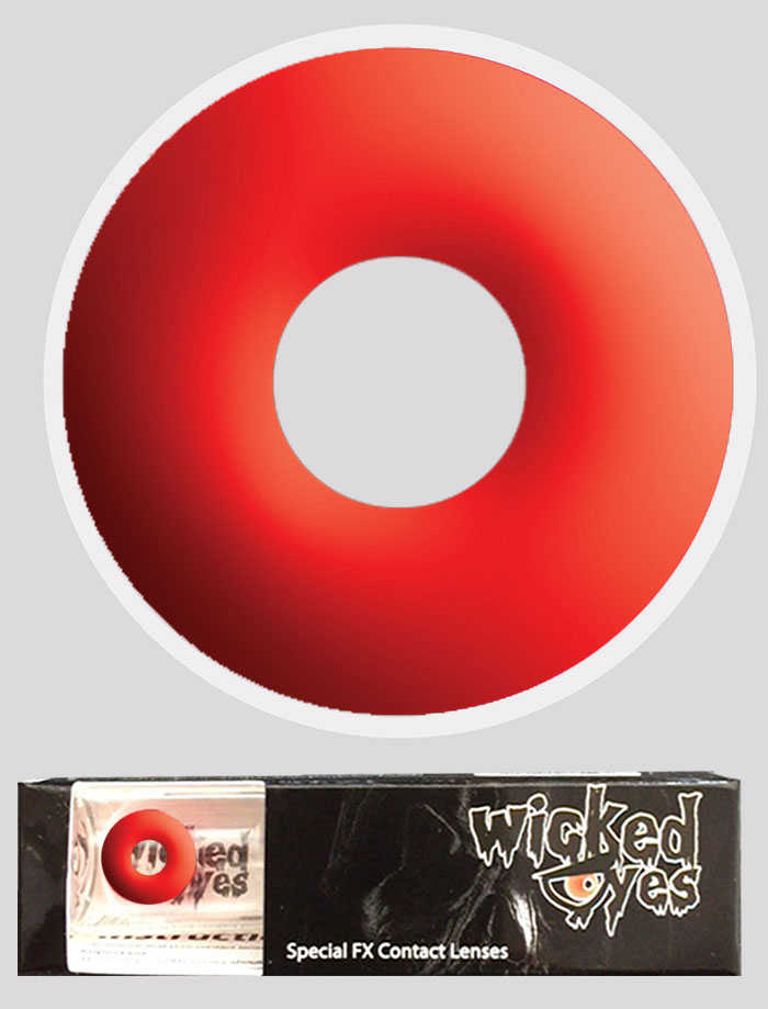 Wicked Eyes Daily Fashion Lenses Red Devil