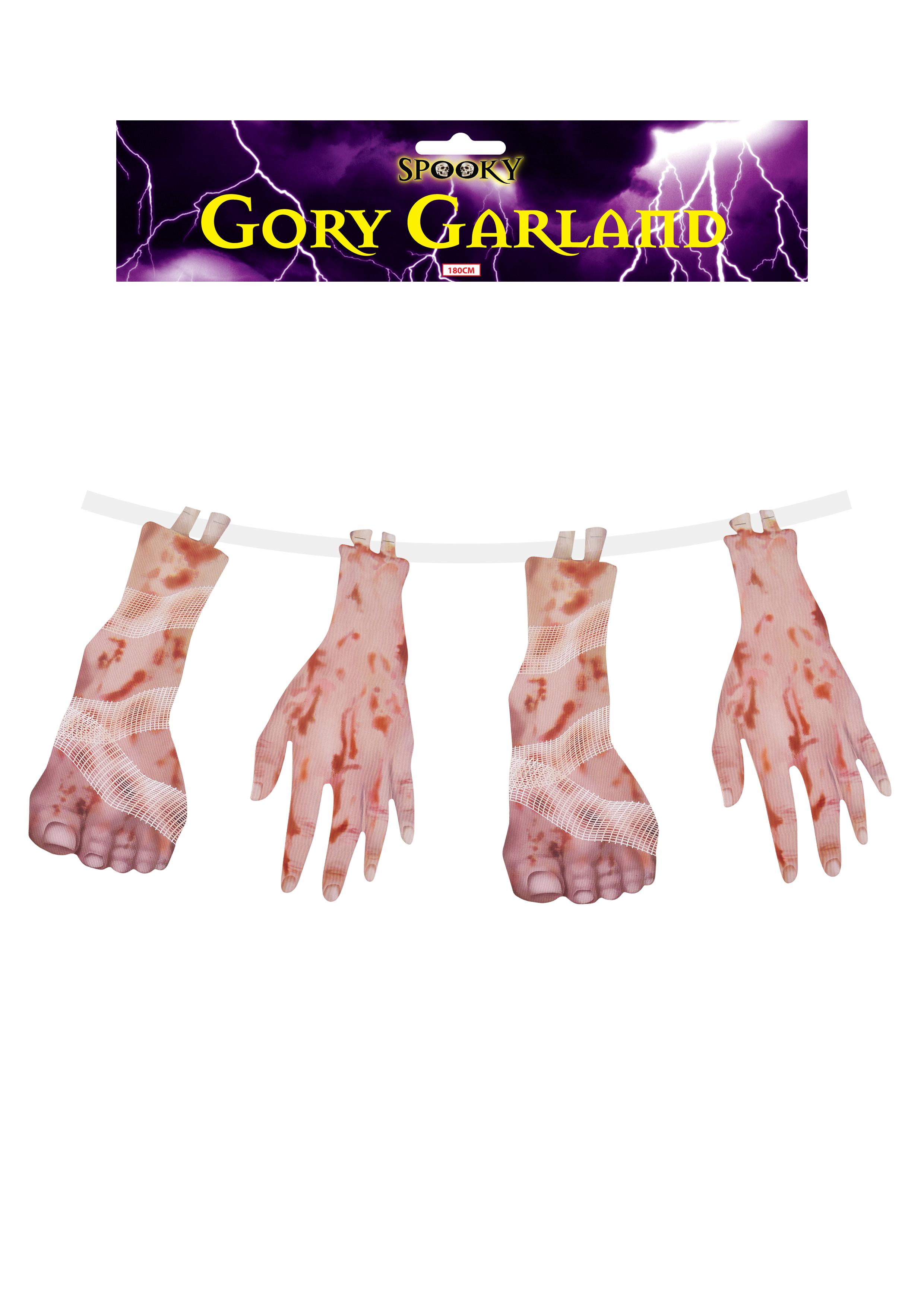 Decoration Garland Gory Feet & Hand 4 Pc 180c