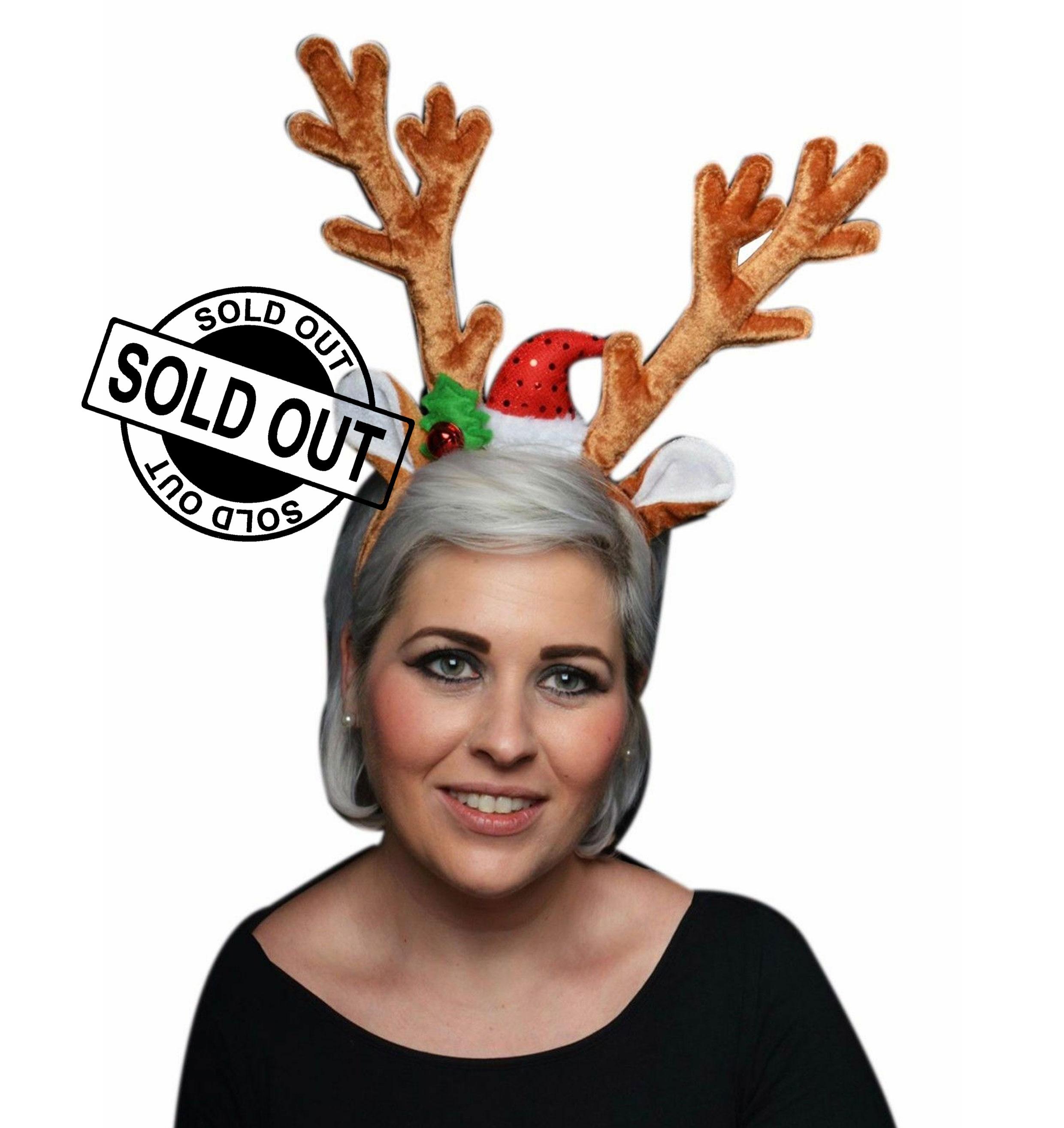 Deluxe Velvet Reindeer Antlers