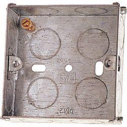 Dencon 25mm 1 Gang Metal Box to BS4664 - Box of 10