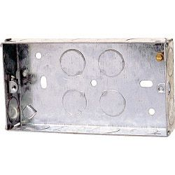 Dencon 45mm 2 Gang Metal Box to BS4664 - Pre-Packed