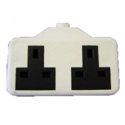 Dencon Rubber 2 Gang Extension Socket - Pre-Packed