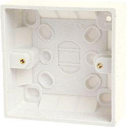 Dencon Single Gang Box (inside 28mm, outside 32m) - Skin Packed
