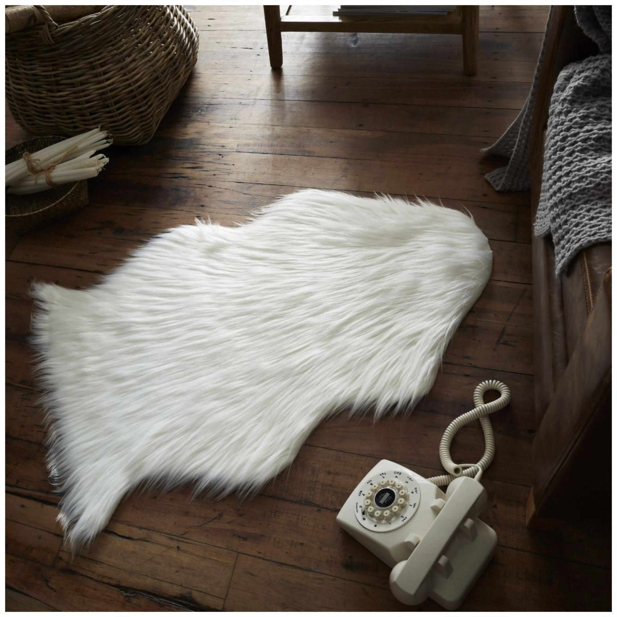 FAUX FUR SHEEP RUG 60X90 WHITE 6475