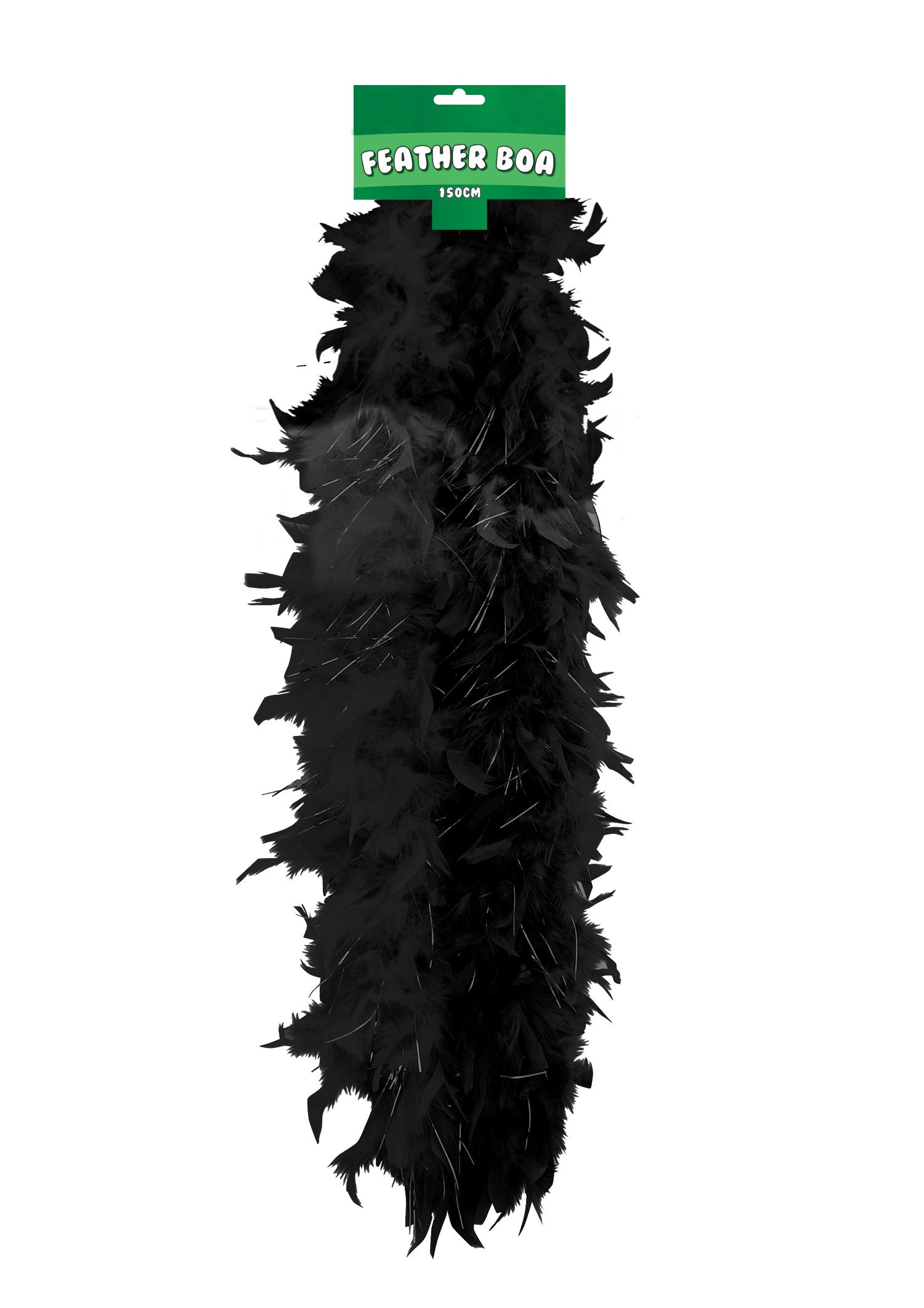 Feather Boa 150cm Black