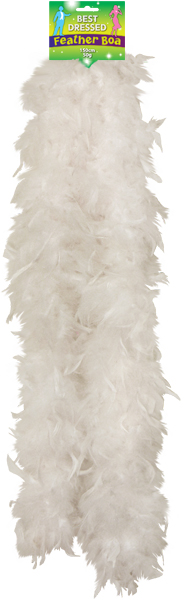 Feather Boa 150cm White