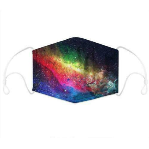 Galaxy Print Face Mask With Filter Pocket