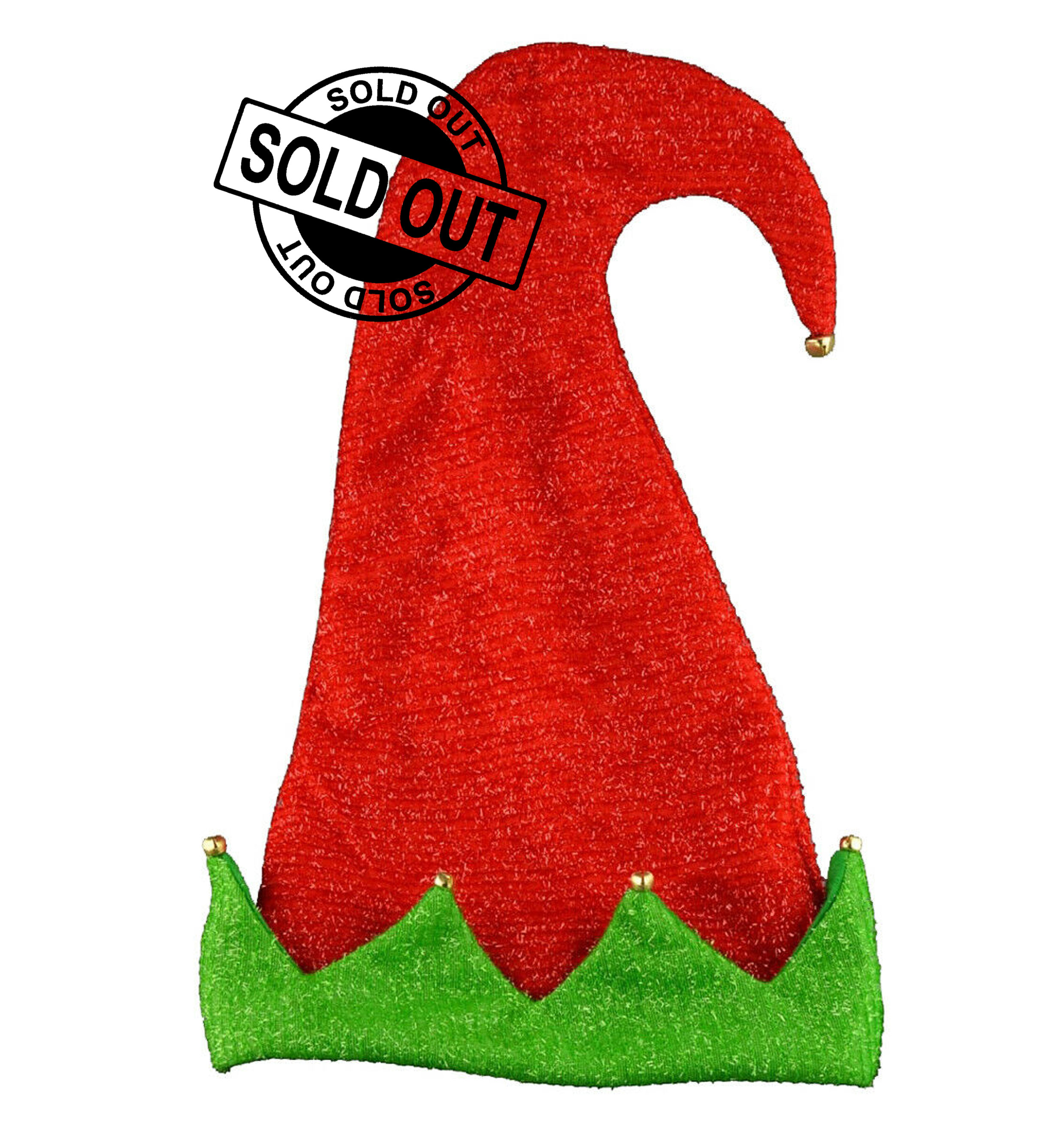 Giant Sparkly ELF Hat With Bells